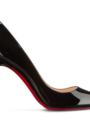 Черные классические туфли лодочки с красной подошвой