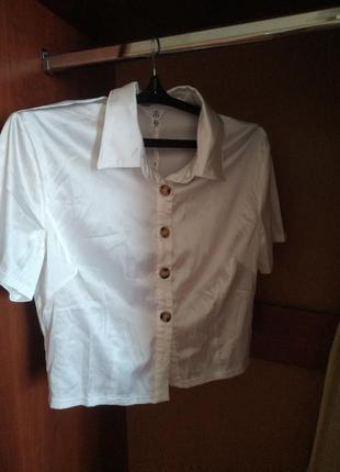 Топ-блуза белая