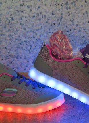Skechers energy lights кроссовки с подсветкой 37 разм, оригинал