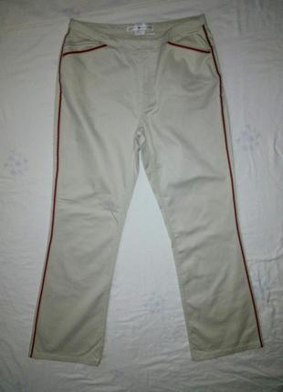 Брендовые штаны клеша с лампасами