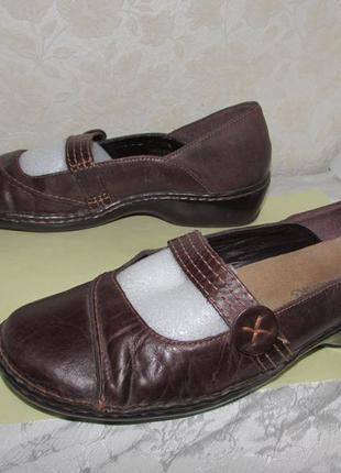 Туфли мокасины 100% натуральная кожа~clarks~ бразилия
