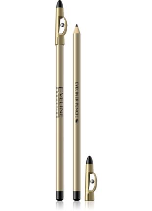 Контурный карандаш для глаз с точилкой . чёрный/коричневый
