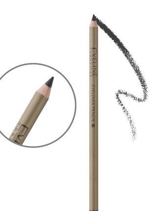 Контурный карандаш для глаз с точилкой . чёрный/коричневый3 фото