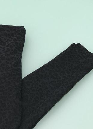Джегинсы брюки жаккардовые в леопардовый принт