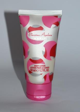 Christina aguilera inspire body lotion парфюмированный лосьон 40 мл оригинал остаток