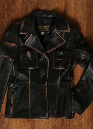 Женская кожаная куртка итальянского производства vera pelle