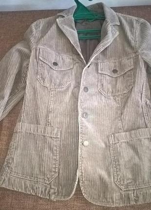 Стильный вельветовый пиджак benetton