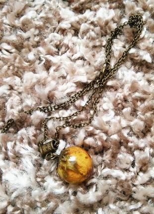 Колье ожерелье подвеска с цветком