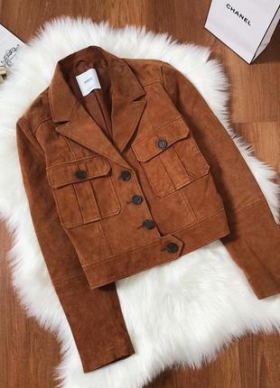 Крутая кожаная 100% куртка косуха mango