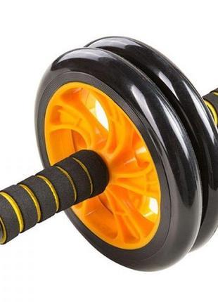 Двойной ролик-колесо для пресса ab wheel + коврик