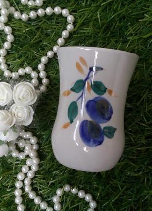"""Ваза """"сливы"""" фарфоровая полонное ссср миниатюра вазочка винтаж"""