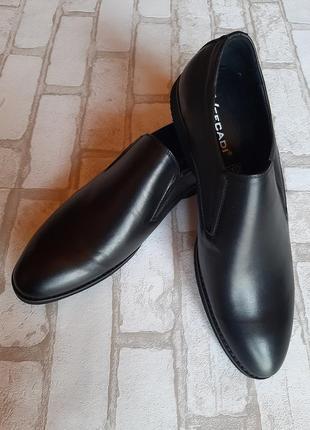 Кожаные лёгкие мужские туфли