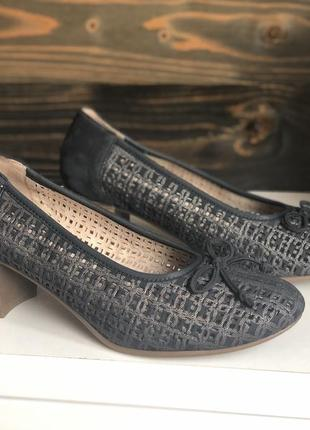 Немецкие шикарные кожаные туфли remonte by rieker