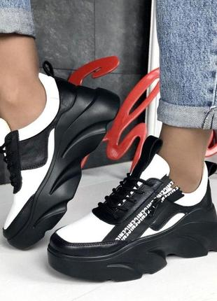 Женские кожаные кроссовки под balenciaga