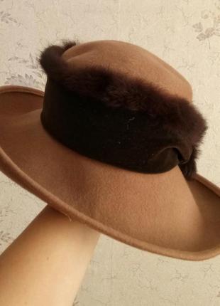Итальянская фетровая шляпв