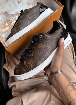 Кроссовки, кеды женские louis vuitton, коричневые (луи виттон, обувь женская)