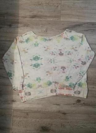 Стильный легкий мохеровый итальянский свитерок