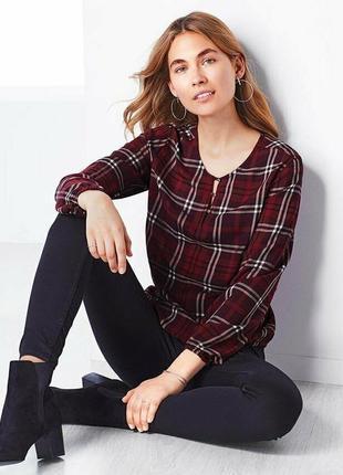Женская блузка , рубашка в клетку tcm
