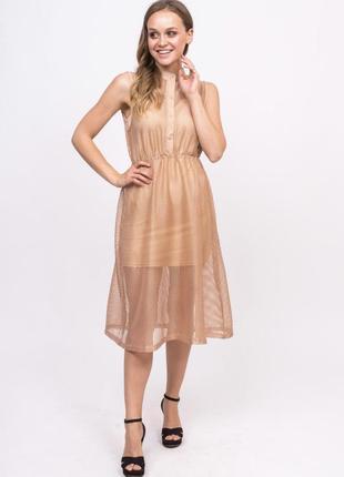 Платье сетка без рукавов