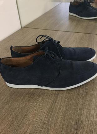 Фирменные стильные замшевые туфли jones & jones