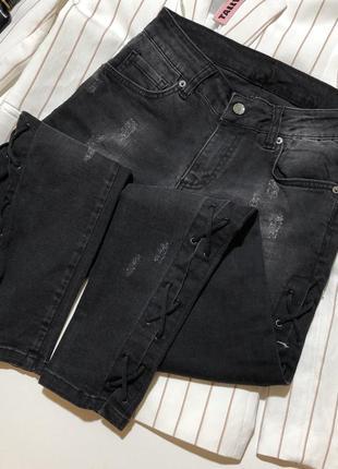 Новые джинсы со шнуровкой джинси италия made in italy