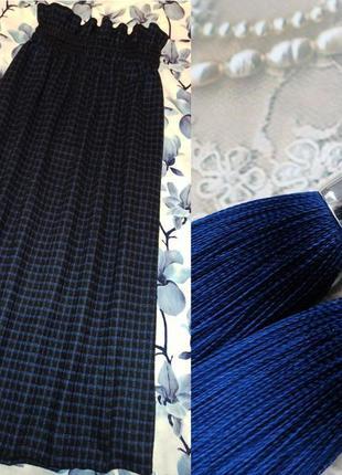 Синяя юбка шотландка