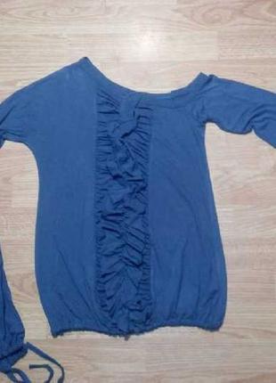 Кофта блуза оборки кружево s/м