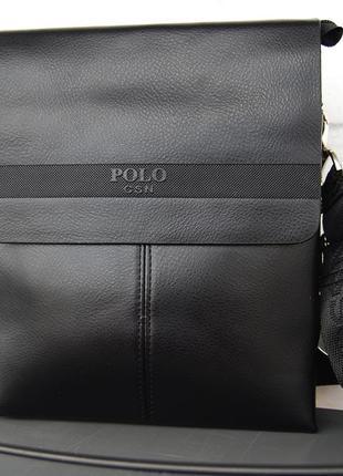 Мужская сумка-планшет polo с ручкой.барсетка мужская. размер(в см) 25 на 20 кс35