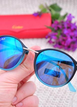 Солнцезащитные круглые очки ray flector на маленикое лицо