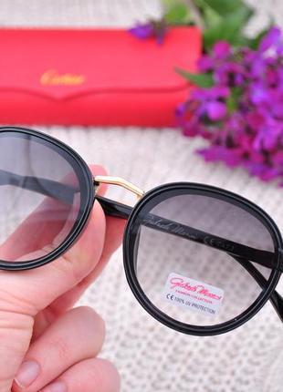 Красивые круглые солнцезащитные очки gabriela marioni
