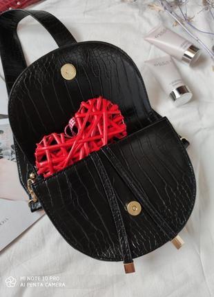 Сумка сумочка структурированная седло кросс боди винтажная с широким ремнем новая6 фото