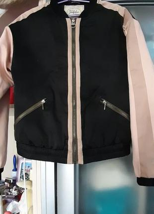 С  принтом повседневная куртка-бомбер на молнии, женская верхняя одежда