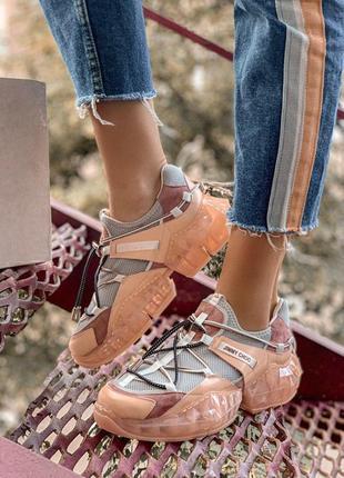 Шикарные женские кроссовки jimmy choo персиковый цвет (36-40)😍
