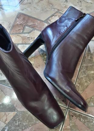 Трендовые демисезонные кожаные ботильоны полусапоги ботинки luciano barachini