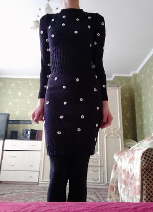 Платье вязаное!