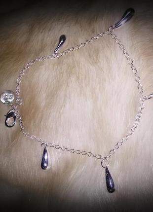 Браслет капельки! стерлинговое серебро 925 + подарок
