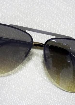 Солнцезащитные очки авиаторы versace, хаки , градиент