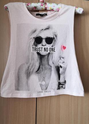 Стильная футболка-майка бренда tally weijl, размер с, 160/80/а