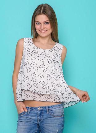 Красивая блуза из креп-шифона