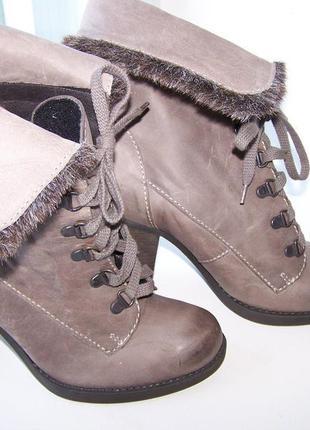 Ботинки кожаные pierre cardin,р-р 37
