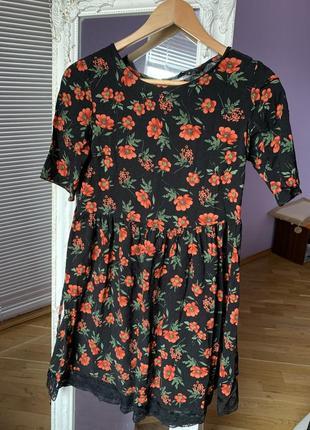 Красивое летнее платье в маки new look