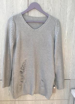 Туника свитер с напылением s