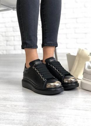 Шикарные женские кроссовки alexander mcqueen в черном цвете (36-40)😍