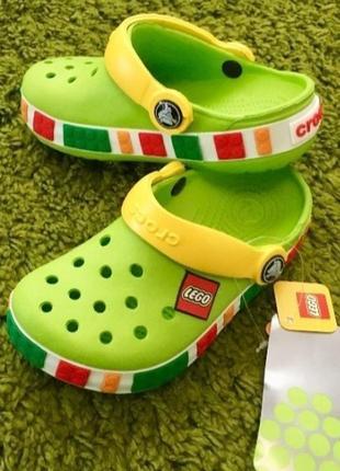 Кроксы crocs crocband lego green