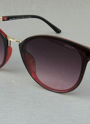 Jimmy choo очки женские солнцезащитные красные с градиентом