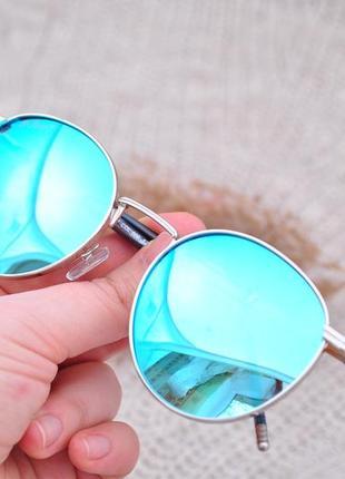 Фирменные круглые солнцезащитные очки beach force polarized унисекс окуляри