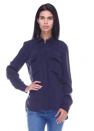 Рубашка ,блуза темно синяя