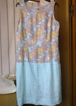 Льняное платье 100%лен  maddison