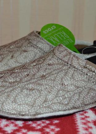 Теплые тапочки crocs