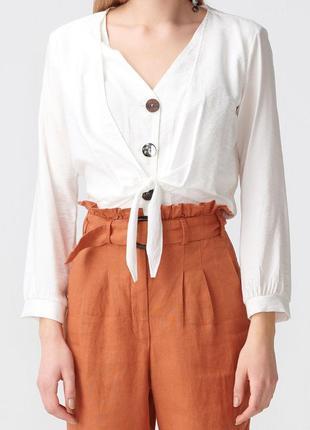Dilvin блуза летняя белый цвет , состояние новой